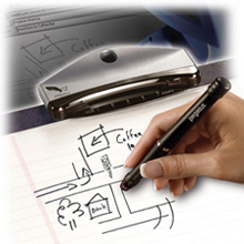 Pegasus invented the PC NoteTaker, the Digital Electronic Pen that uses regular paper